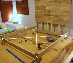 King Size Bed Frame Diy How To Build A Custom King Size Bed Frame The Thinking Closet