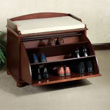 Shoe Storage With Seat Or Bench - small antique closed shoe rack bench with drawer storage and white