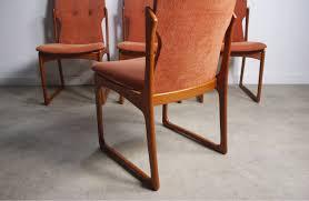 Dining Chair Set Of 4 Danish Modern Teak Dining Chairs By Vamdrup Stolefabrik Set Of 4