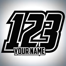 motocross jersey numbers 3 x custom race numbers and name stickers curvy motocross decals