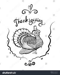 outline greeting card turkey stock vector 493402780