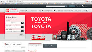 toyota official website india toyota opens online spare parts store for india