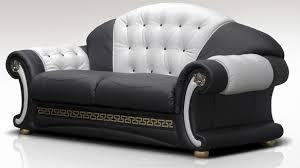 Black Fabric Sofa North Carolina 3 Seater Sofa Settee Genuine Italian Black White