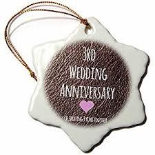 3rd wedding anniversary gift 3drose orn 154430 1 3rd wedding anniversary gift