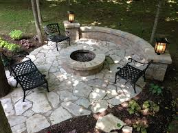 Flagstone Firepit Salt Lake Flagstone Patio With Pit Sitting Wall