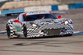picture of two corvette c7 rs driving on the track gm authority