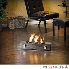portable fireplace holly martin hudson portable indoor outdoor gel fireplace