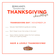 get ready for thanksgiving thanksgiving checklist my kirklands blog