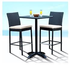 5 Piece Patio Bar Set by Dining Room Impressive Rustico Wicker Outdoor Pub Table With Bar