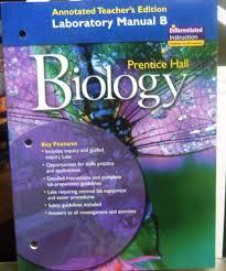 prentice hall biology laboratory manual b annotated teacher