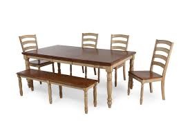mathis brothers dining tables six piece rectangle extension 78 dining set in wheat mathis