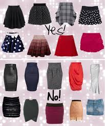 the best skirt style for your body shape body shapes bodies and