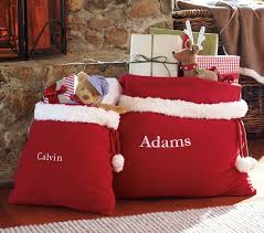 pottery barn personalized santa bags just 13 shipped more