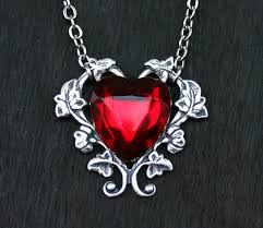 heart necklace red images Red heart necklace etsy key necklace and fire opals jpg