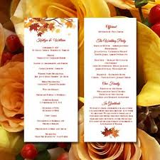fall wedding programs printable wedding ceremony program template falling leaves diy