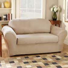 Sure Fit Slipcovers Review Sure Fit Stretch Suede Box Cushion Loveseat Slipcover U0026 Reviews