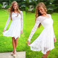 cheap short long casual wedding dresses free shipping short long