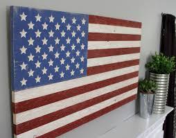 rustic wooden american flag patriotic distressed sign