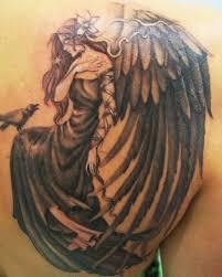 men back shoulder angel tattoo designs sleeve tattoos