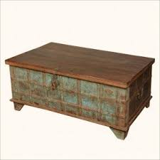 Wood Coffee Table With Storage Wood Storage Trunk Coffee Table Foter