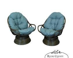 Rattan Swivel Rocker Cushions Rattan Swivel Chair Etsy