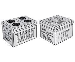 boites de rangement cuisine set de 2 boites de rangement cuisine en à colorier