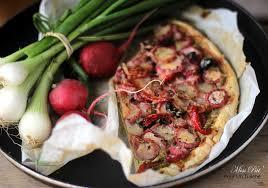 cuisiner les radis roses tarte aux radis roses comme une pizza la cuisine bio de miss pat