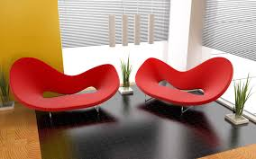 20 ways to red contemporary chair