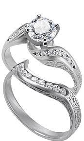 matching wedding rings engagement rings with matching wedding rings