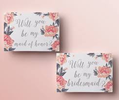 bridesmaid invitations template printable will you be my bridesmaid card floral will you be my