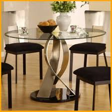 industrial glass dining table unbelievable coaster vance round glass top dining table with chrome