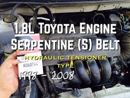 toyota corolla alternator replacement diy 1 8l replace s serpentine belt 1 8l toyota corolla celic yaris