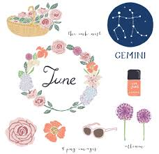 Flowers For Each Month - clip art u2013 june the ink nest blog
