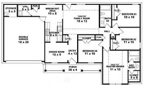 awesome 22 images 4 bedroom 2 story house floor plans building