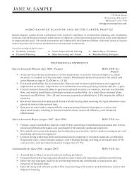 exles of resumes for management planner and buyer resume