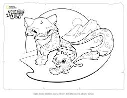 animal jam coloring page snow leopard and her cub by coloring