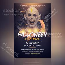 free halloween party flyer templates stockpsd net u2013 free psd flyers brochures and more psd party