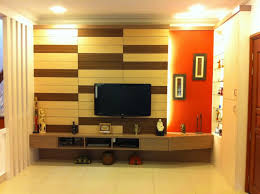 Wall Mounted Tv Cabinet Design Ideas Simple Flat Screen Tv Wall Design With Creative Padded Wooden Wall