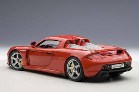 porsche red autoart highly detailed die cast model red porsche carrera gt