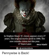 Pennywise The Clown Meme - 25 best memes about stephen king s it stephen king s it memes
