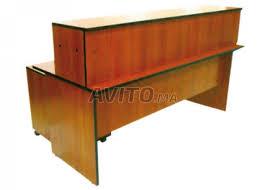 comptoir de bureau comptoir bureau en bois caisson de 3 tiroirs à vendre à dans