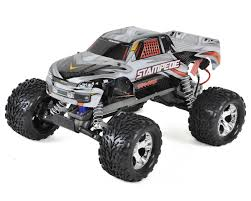monster truck video clips stampede 1 10 rtr monster truck silver by traxxas tra36054 1