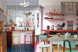 photo cuisine retro cuisine scandinave vintage idées décoration intérieure