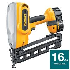 Coil Nails Home Depot by Dewalt 18 Volt Xrp Nicd Cordless 16 Gauge 20 Degree Angled Nailer