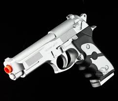 ukarms silver m9 beretta spring airsoft pistol