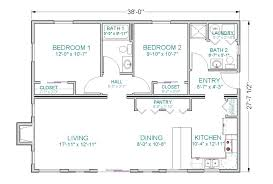 2 bedroom ranch floor plans 2 bedroom open floor plans spacious 2 bedroom house plans new
