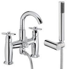 abode opulence deck mount bath mixer w handset sinks taps com opulence deck mounted bath shower mixer tap with shower handset