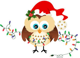 owl christmas owl with christmas lights stock vector illustration of december
