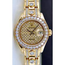 ladies diamond bracelet watches images Rolex datejust pearlmaster gold pleade diamond 80298 watch chest jpg