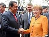 Chávez encerra mal- estar com chanceler alemã